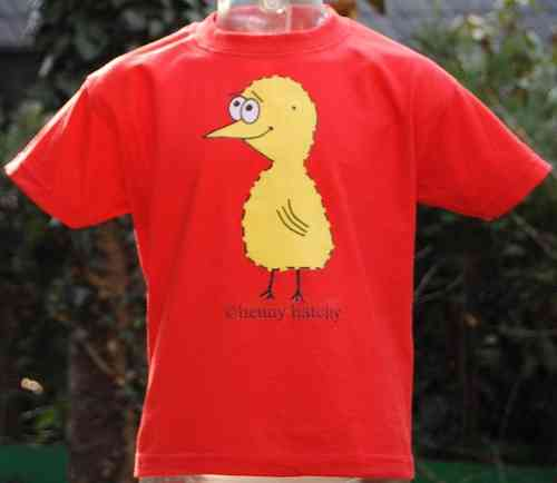 Kinder T-Shirt henny hatchy Red